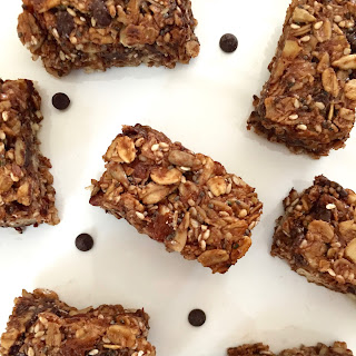 Healthy Chocolate Chip and Shredded Coconut Granola Bars.