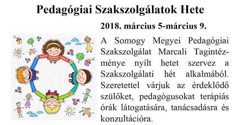 Szakszolgálati Hetek - Marcali - 2018 Programfüzet