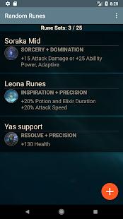 Runes Reforged LOL randomizer - náhled
