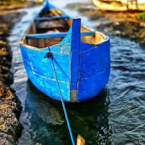 BLUE BOAT by Fammz Fammudin - Transportation Boats ( water, transportation, boat )
