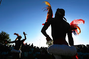 Isgumbu Tsonga cultural dance group performs during  Heritage Day celebrations in Chiawelo, Soweto.