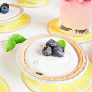 Frozen Blueberry Basil Lemonade Mini Pies