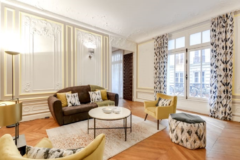 Living area at Boetie IV Serviced Apartment, Champs Elysees