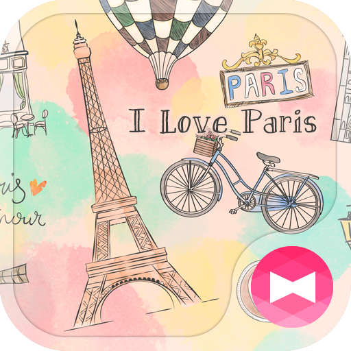 Cute Wallpaper I Love Paris Theme Icon