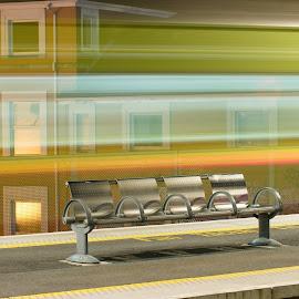 Waiting on a Train 1 by Paul Holmes - Transportation Trains ( ireland dublin nikon d300 tamron 70-300 )