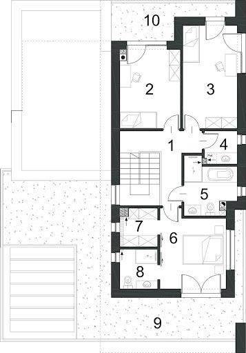 Kubiczny D30 - Rzut piętra