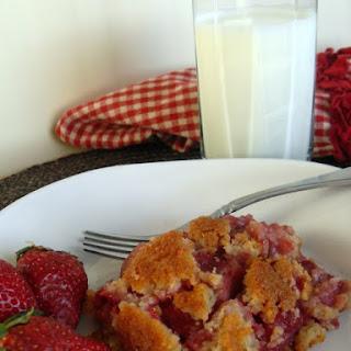 Gluten Free Strawberry Shortcake Cobbler.