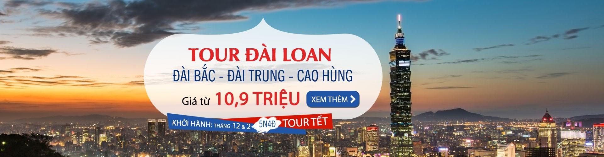tour du lịch đài loan tết 2018