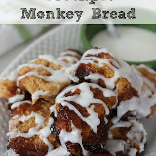 Crockpot Cinnamon Monkey Bread.