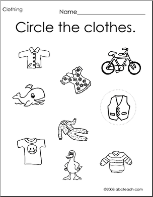 math worksheet : clothing worksheets preschool the best and most ...