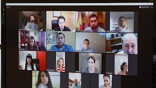 Desarrollo de la Junta de gobierno Local de forma virtual.