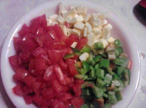 Peel Seed and dice the yellow squash. Seed and dice the Green Pepper. Slice...