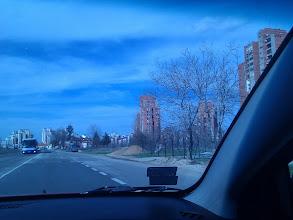 Photo: Driving back to Belgrade..