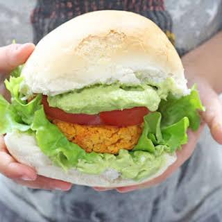 Cajun Sweet Potato and Chickpea Veggie Burger.