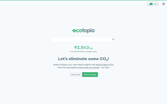 Ecotopio — CO2 Eliminating Search Engine