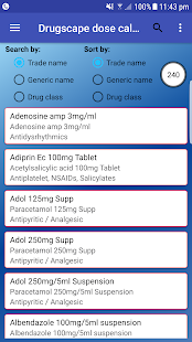 Drugscape dose calculator FREE - náhled