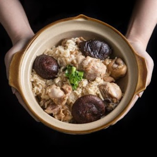 One Pot Chinese Pressure Cooker Chicken and Rice.
