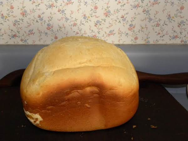 This Is What A Loaf Looks Like When It Is Baked In The Bread Machine.