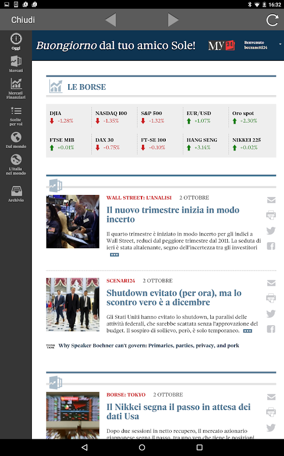 Il Sole 24 ORE- screenshot
