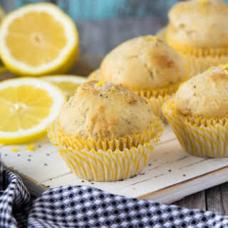 Healthy Lemon Chia Seed Muffins.