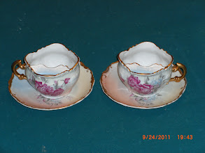 Photo: R S PRUSSIA mustache cups,,RARE left hand & right hand,,page 1