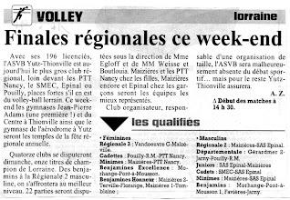Photo: Finales régionales à Yutz et Thionville