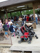 Photo: Lots of strollers for tots on the train.  HALS 2009-0919