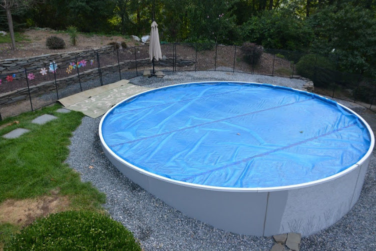 Radiant Pool Install Semi Inground