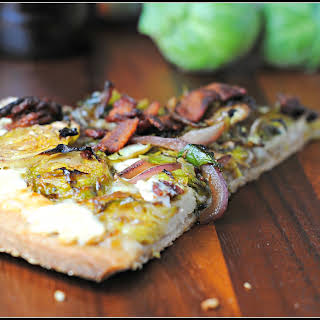 Brussels Sprouts, Bacon, and Goat Cheese Pizza.