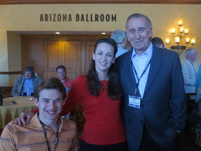 Photo: Evening cocktail party!  With Sawyer and Apollo 7 astronaut, Walt Cunningham!