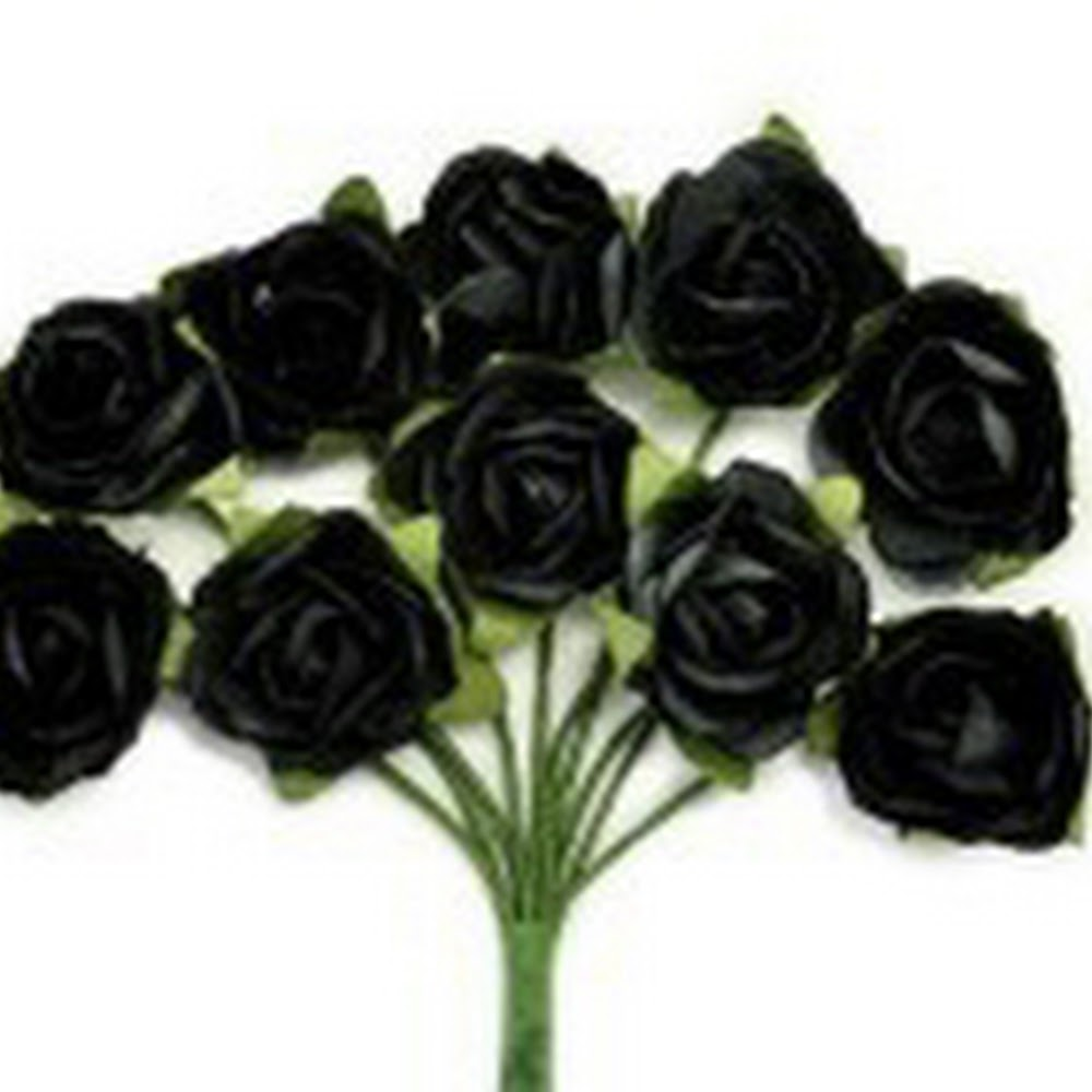 KC-Mini Paper Blooms(Black)