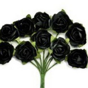 KC-Mini Paper Blooms(Black)
