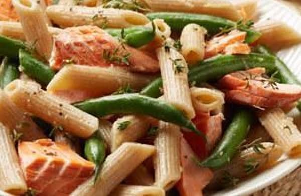 Alaska Salmon Penne With Green Beans And Vinaigret Recipe