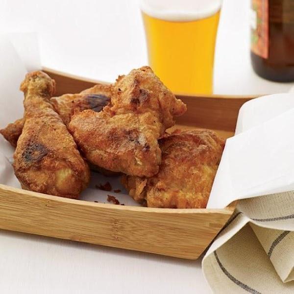 Beer-battered Fried Buttermilk Chicken Recipe