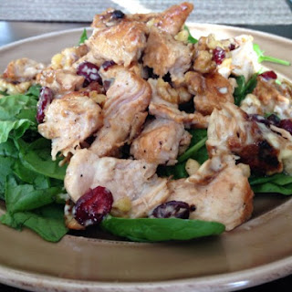 Warm Turkey Cranberry Walnut Salad