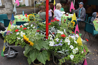 Photo: Flower display provided by Cheshire Home © Priston Festival 2012