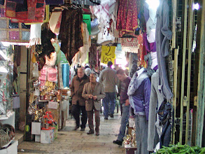 Photo: One of the market streets of the old city--we spent a lot of time wandering through these bazaars--virtually anything can be purchased.