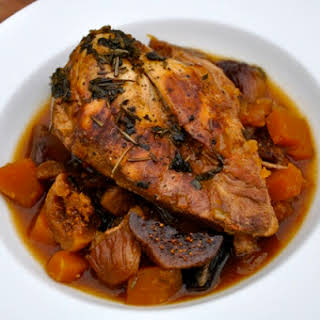 Slow Cooker Chicken Breast with Figs & Squash.
