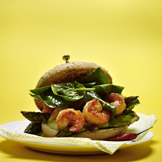 Prawn and Asparagus Sandwich