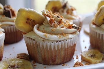 Candy Crush Peanut Butter & Banana Cupcakes Recipe