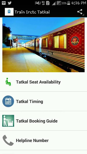 Train Irctc tatkal