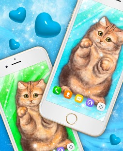 Cute Cat Live Wallpaper - náhled