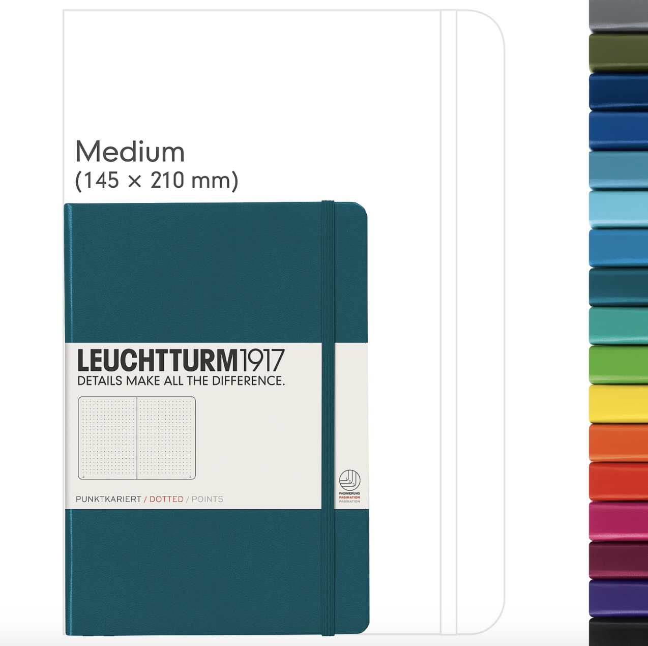 Leuchtturm 1917 A5 Medium Hardcover Notebook