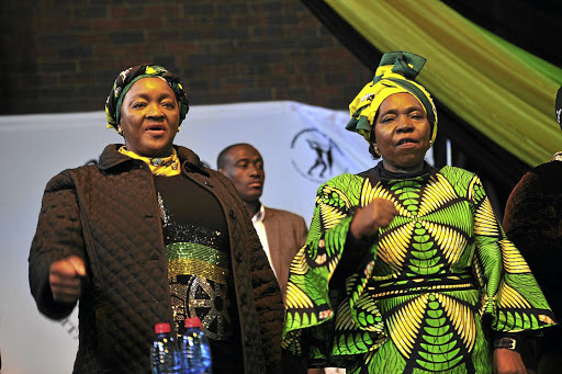 Party buddies: Nkosazana Dlamini-Zuma, right, was backed by, among others, dubious Social Development Minister Bathabile Dlamini in her campaign for the ANC's top spot. Picture: VELI NHLAPO