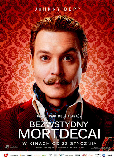 Przód ulotki filmu 'Bezwstydny Mordecai'