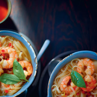 Vietnamese Prawn Noodle Soup with Star Anise and Cinnamon.