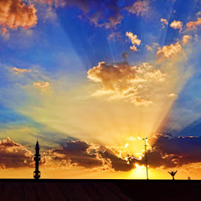 King Abdullaziz Mosque Ar'Ar Northern Border Saudi Arabia by Angelito Cortez - Backgrounds Nature (  )
