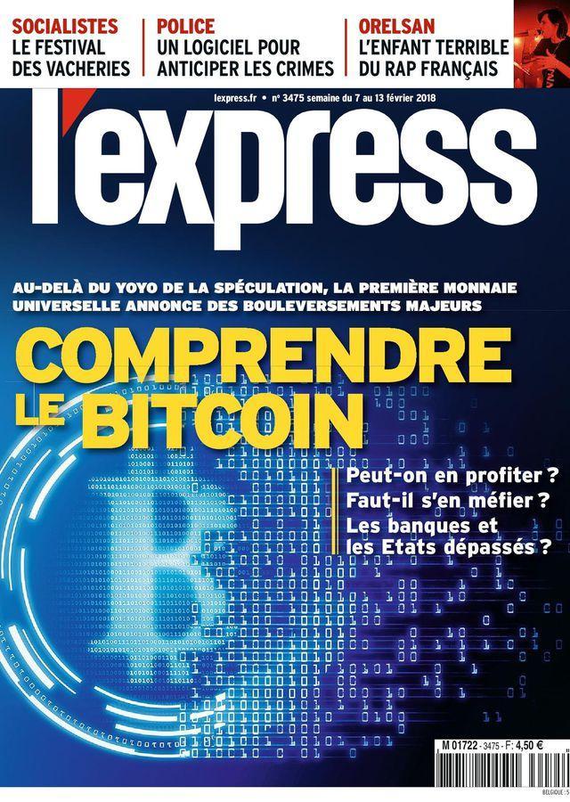 """Résultat de recherche d'images pour """"revue l'express+comprendre le bitcoin"""""""