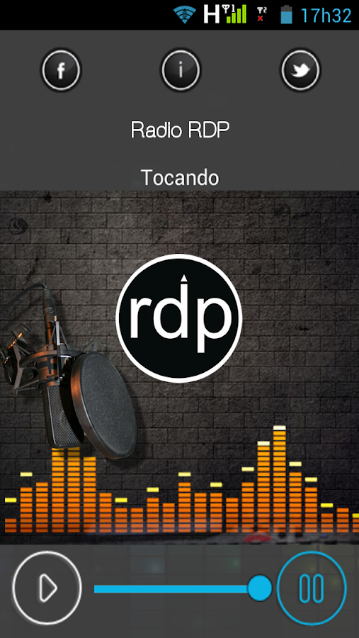 Rádio RDP- screenshot