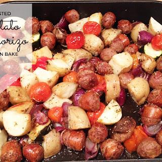 Roasted Potato and Chorizo One-Pan Bake